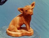 チワワ wood carving chihuahua